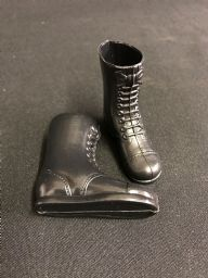 ELITE BRIGADE - BLACK TALL BOOTS to fit Action Man/Gi Joe etc